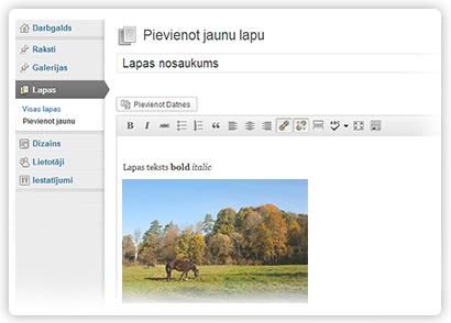 Wordpress administrēšana